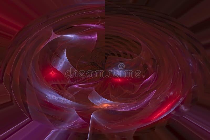 发光的发光的超现实的高雅纹理元素不可思议的想象力火花爆炸幻想设计 库存例证