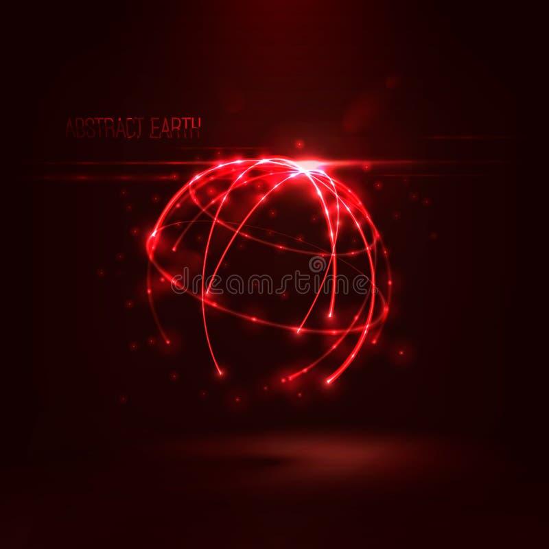 发光的圈子和微粒抽象球形形状  向量例证