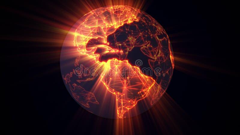 发光的地球万维网概念