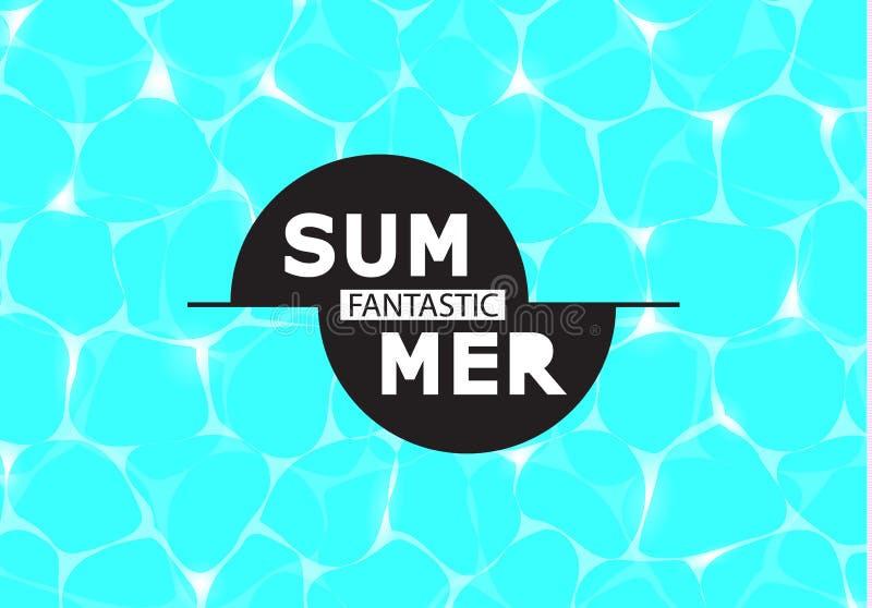 发光的大海的传染媒介例证 意想不到的夏天 例证可以为网络设计,纹理,夏天使用 向量例证