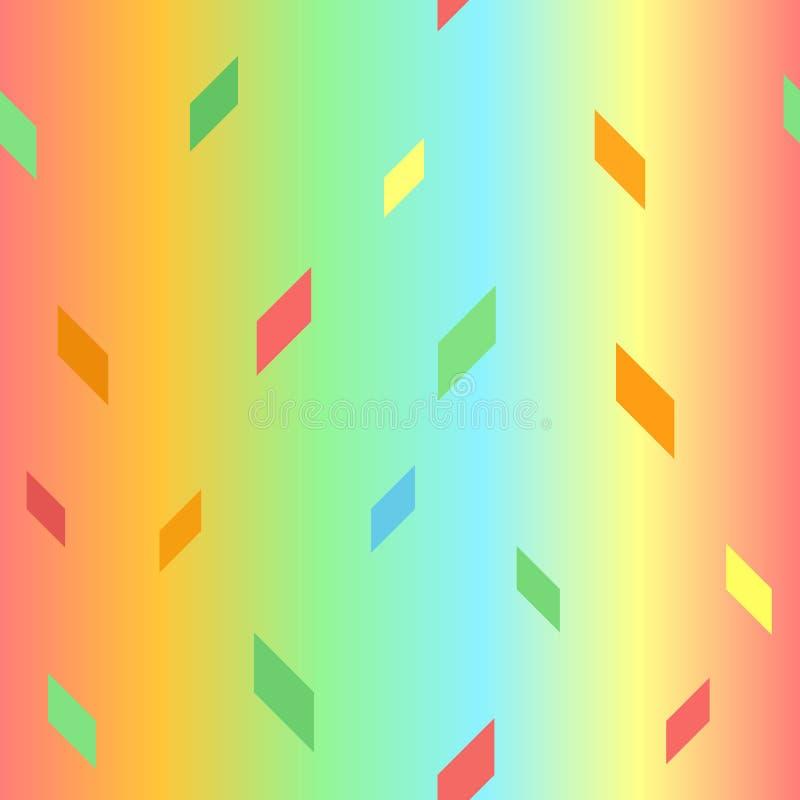 发光的平行四边形样式 1866根据Charles Darwin演变图象无缝的结构树向量 向量例证