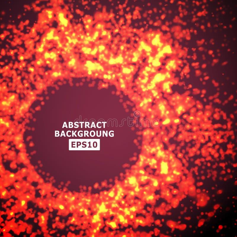 发光的微粒传染媒介飞溅  未来派网络背景 例证 向量例证