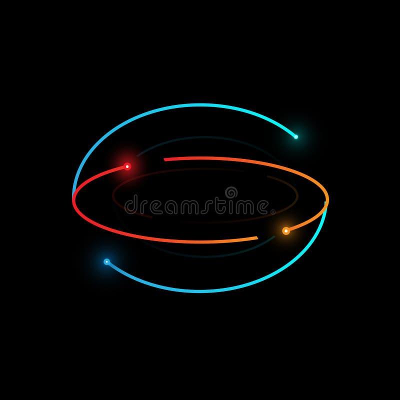 发光的微粒,向量图形 向量例证