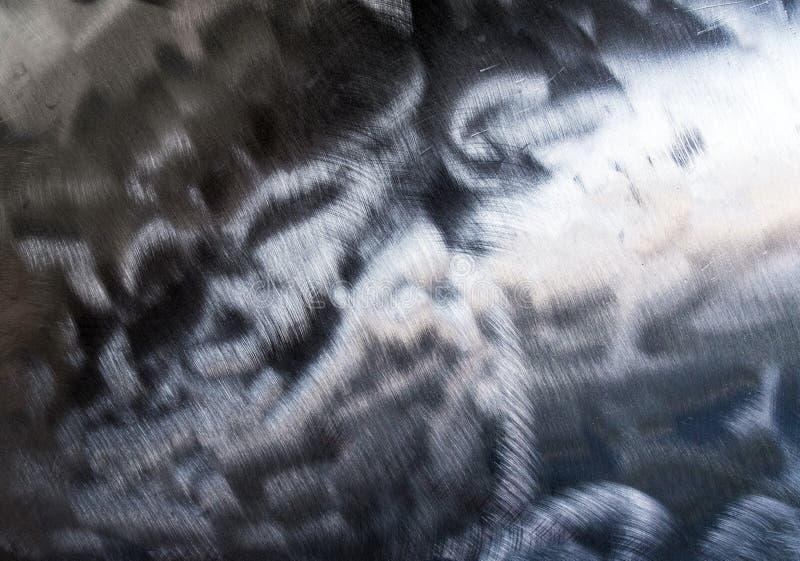 发光的抓痕表面钢纹理  免版税库存照片