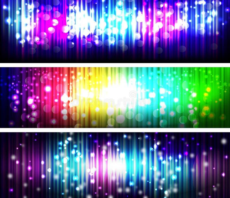 发光的抽象线横幅 皇族释放例证