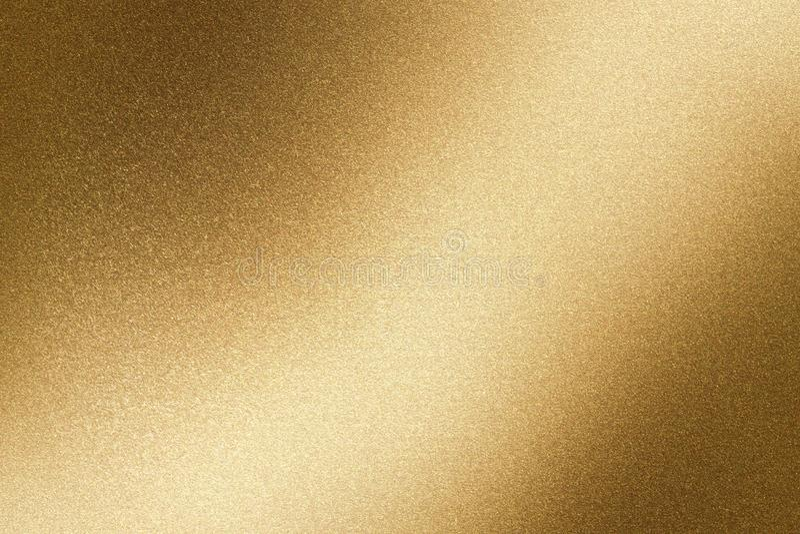 发光的棕色钢墙壁,抽象纹理背景 皇族释放例证