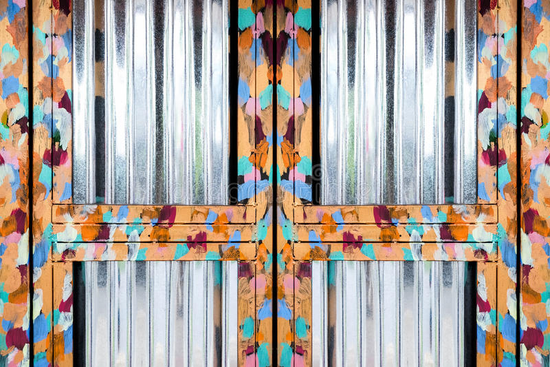 发光的油画钢门框 免版税库存图片