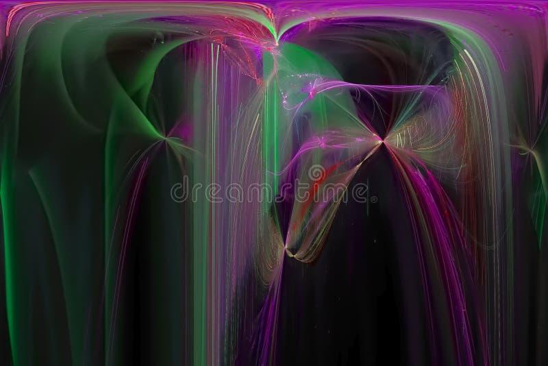 发光的波斯菊爆炸科学波浪样式背景飞溅力量幻想爆炸设计飞溅,闪闪发光 皇族释放例证