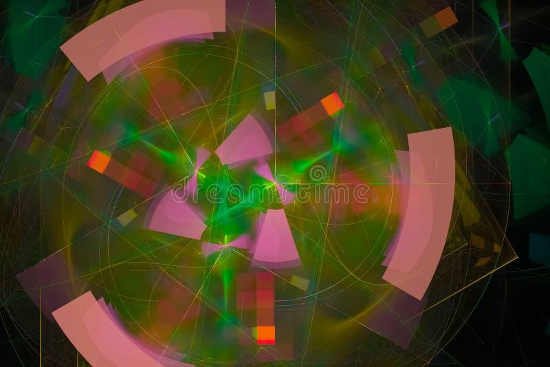 发光的波斯菊科学样式波浪现代烟花样式纹理背景飞溅力量幻想爆炸设计飞溅,闪闪发光 皇族释放例证