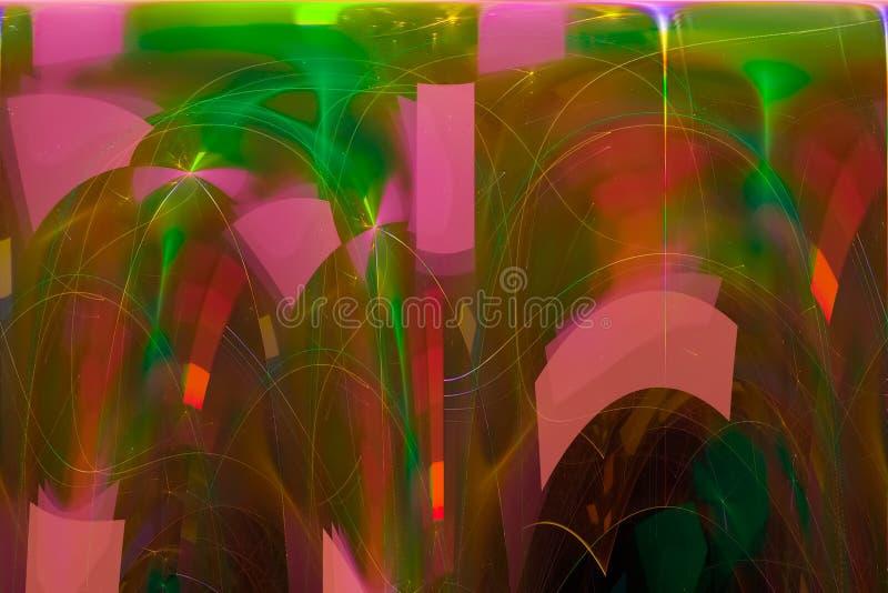 发光的波斯菊科学波浪现代烟花样式纹理背景飞溅力量幻想爆炸设计飞溅,闪闪发光 向量例证