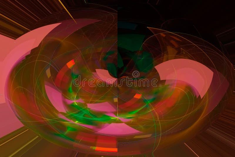 发光的波斯菊科学现代烟花样式纹理背景飞溅力量幻想爆炸设计飞溅,闪闪发光 向量例证