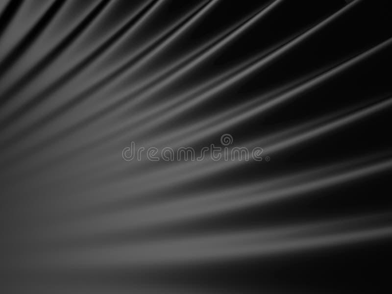 发光的深黑色摘要背景 向量例证