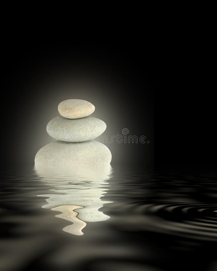 发光的温泉向摘要扔石头 免版税库存照片