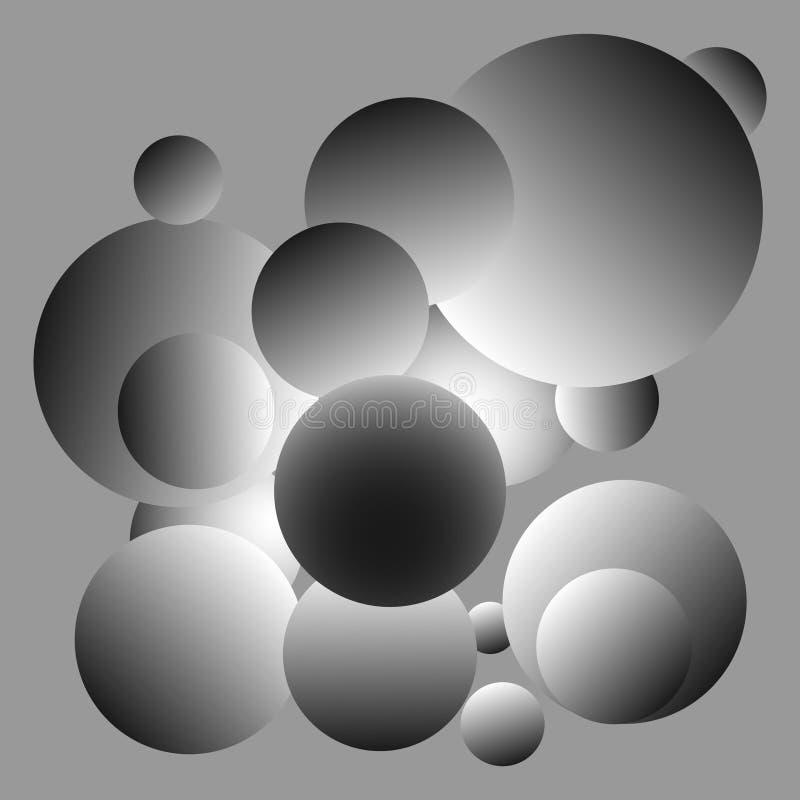 发光的灰色球背景设计 库存图片