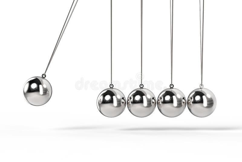 发光的牛顿摇篮 库存例证