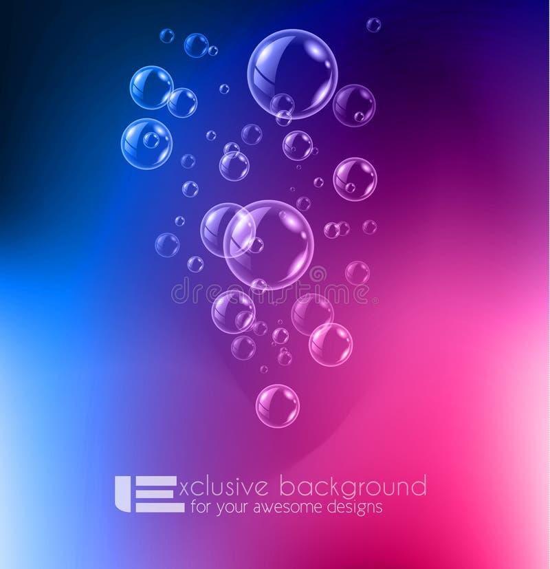 发光的现代背景的质量泡影液体背景 向量例证