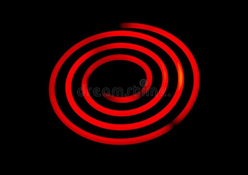 发光的电火炉螺旋 免版税图库摄影