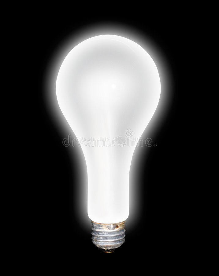 发光的电灯泡 免版税图库摄影