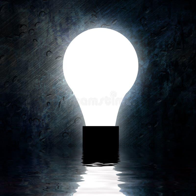 发光的电灯泡 库存例证