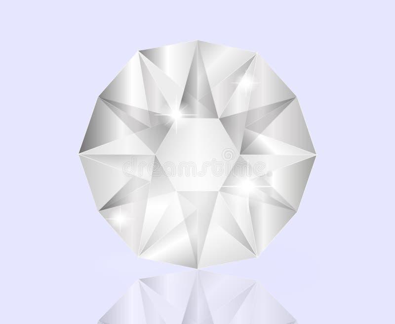 发光的白色金刚石 库存照片