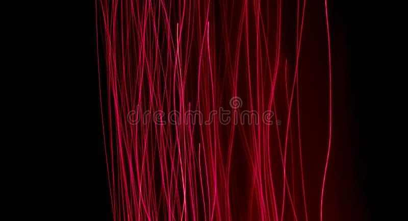 发光的纤维光学 库存图片