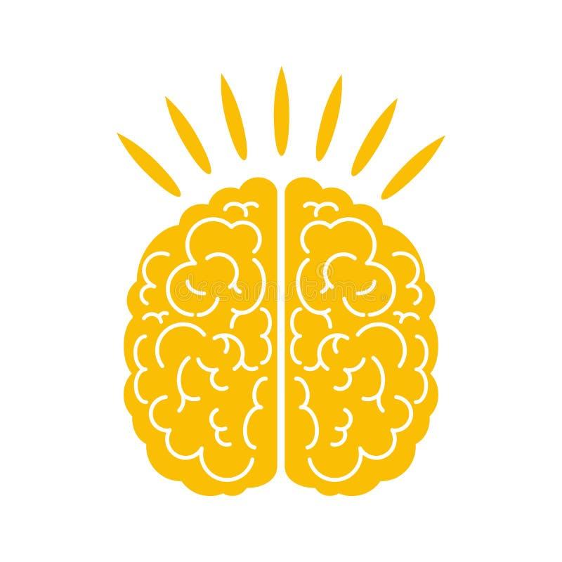 发光的脑子 头脑、创造性、知识和企业成功 库存例证