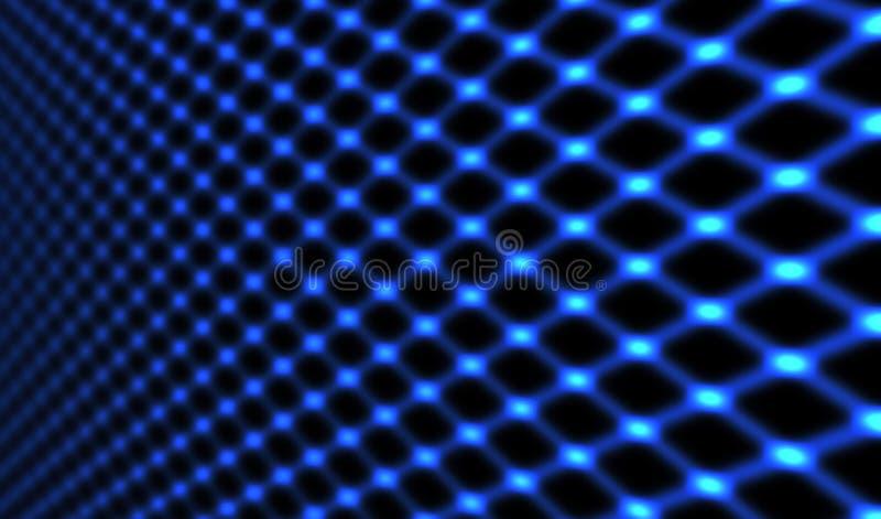 发光的蓝色网 库存图片