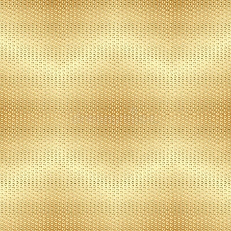 发光的金子之字形梯度金属无缝的光点图形 皇族释放例证