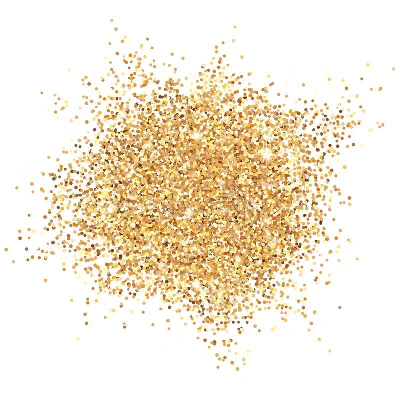 发光的金子闪烁传染媒介例证 库存例证