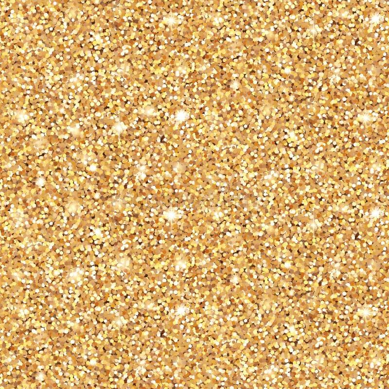 发光的金子闪烁无缝的样式 皇族释放例证
