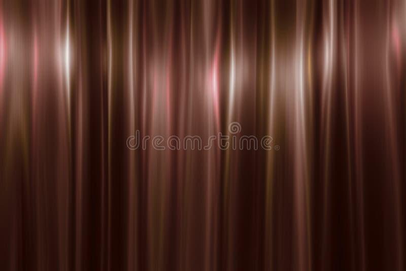 发光的金黄铜金属背景 明亮的颜色反射 发光的金黄铜金属纹理 Â节日晚会背景 库存例证