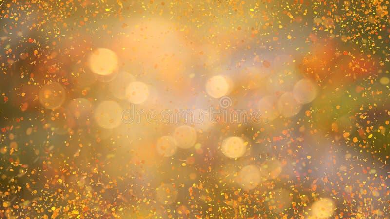 发光的金黄背景 库存例证