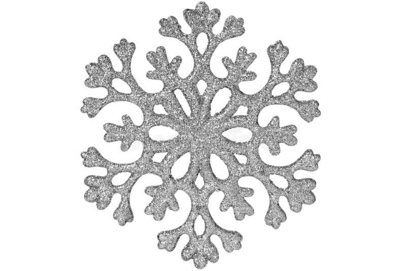 发光的银色雪花 免版税图库摄影