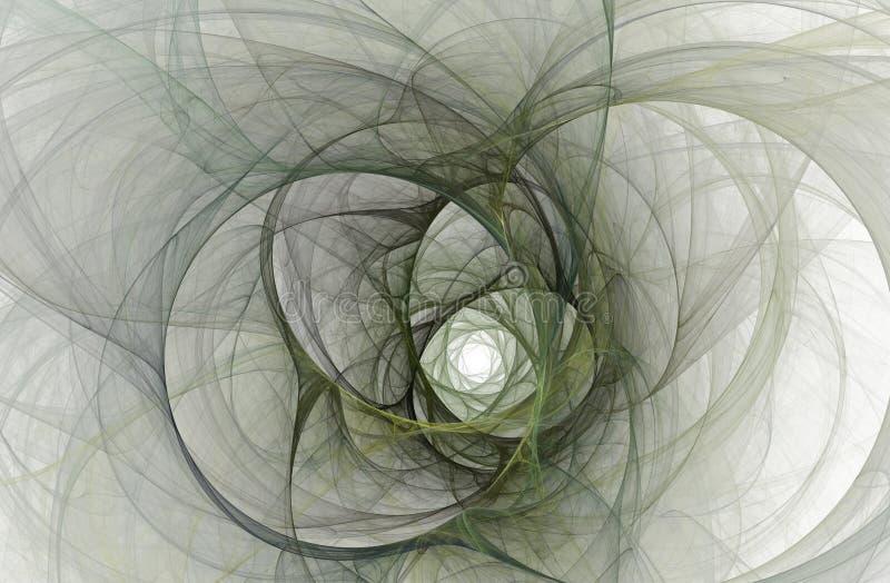 发光的隧道的计算机生成的分数维抽象 皇族释放例证