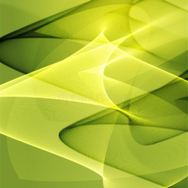 发光的颜色波浪 向量例证