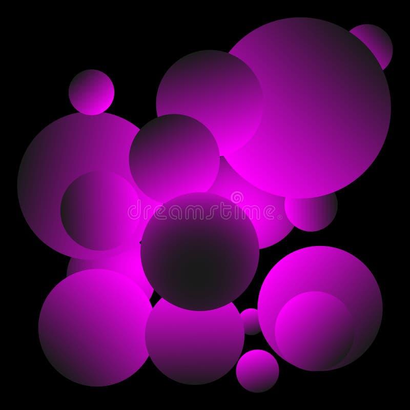 发光的紫色球背景设计 库存图片