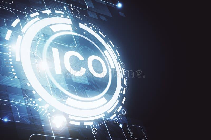 发光的ICO背景 向量例证