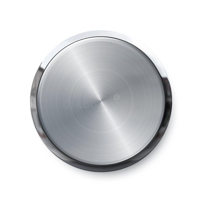 发光空白按钮的推进 皇族释放例证