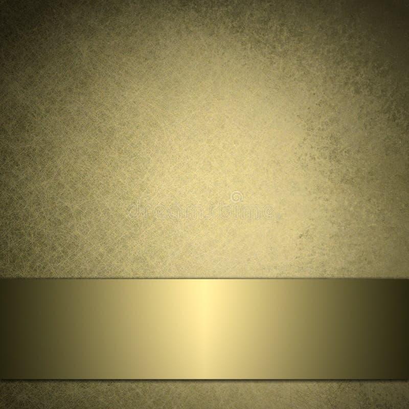 发光背景金金黄的丝带 库存例证
