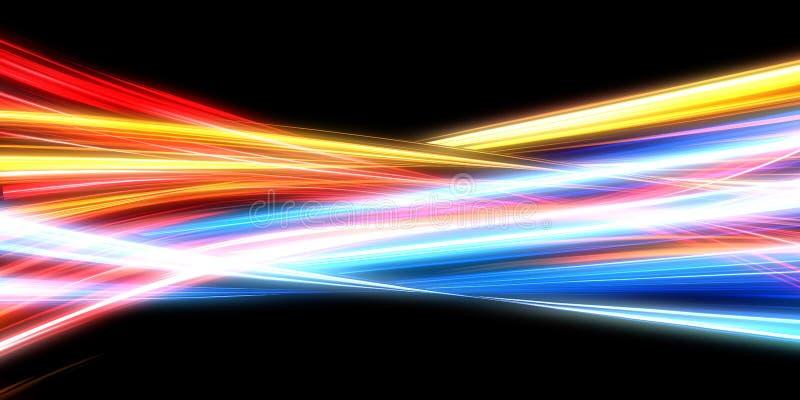 发光能量线 皇族释放例证
