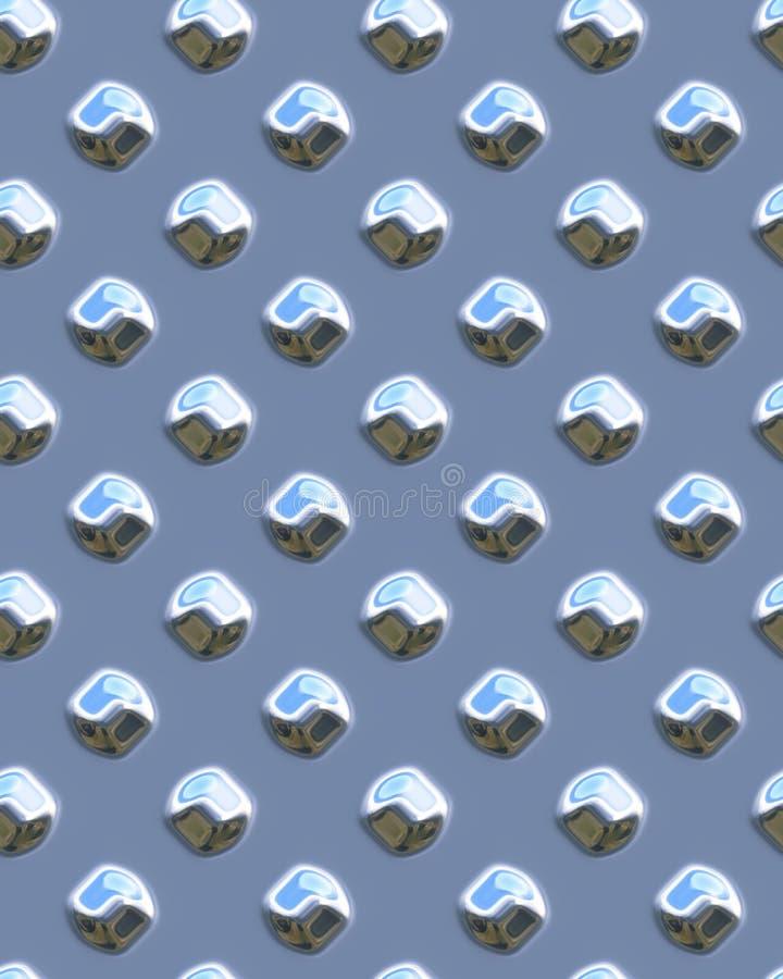 发光蓝色diamondplate的小点 向量例证