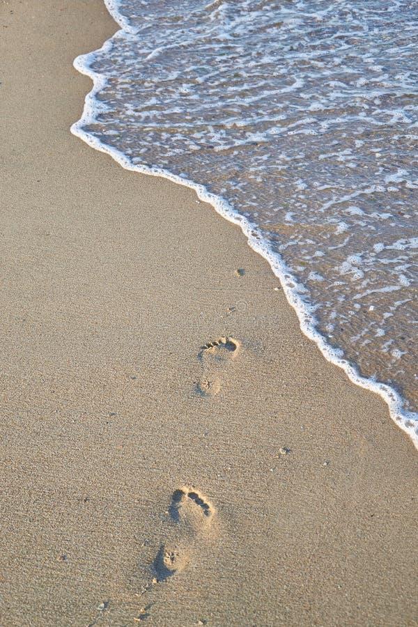 发光,完善在夏天结算在沙子的版本记录在海滩 库存照片