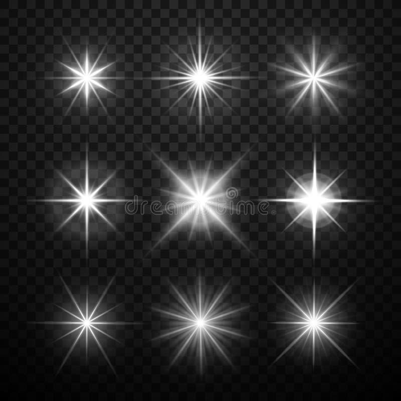 发光轻的作用的传染媒介,担任主角与闪闪发光的爆炸 库存例证