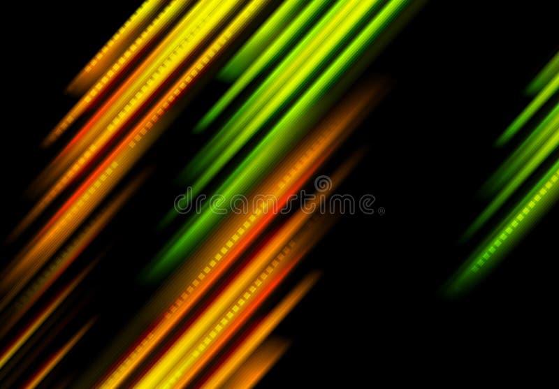 发光绿色和桔子镶边背景 皇族释放例证