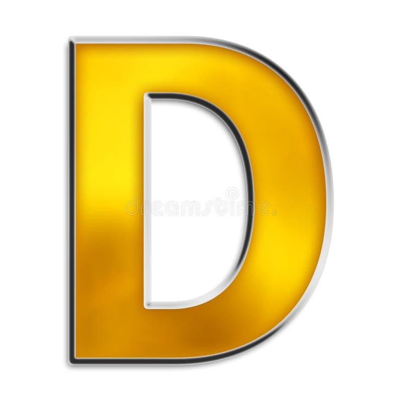 发光d金子查出的信函 库存例证