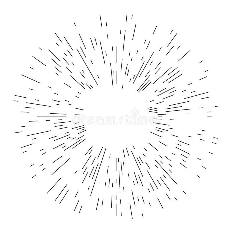 发出光线元素 抽象圆几何形状 库存照片