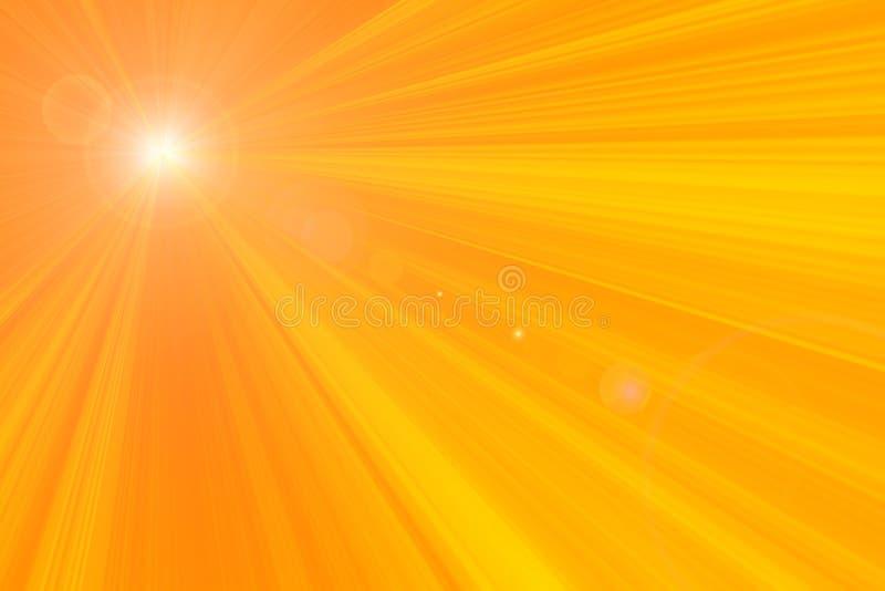 发出光线s星期日 向量例证