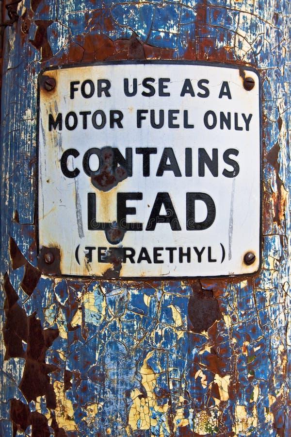仅发动机燃料标志 免版税图库摄影