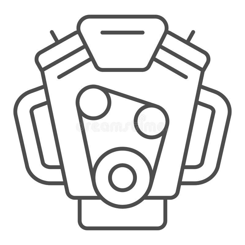 发动机稀薄的线象 马达在白色隔绝的传染媒介例证 搬家工人概述样式设计,设计为网和 皇族释放例证