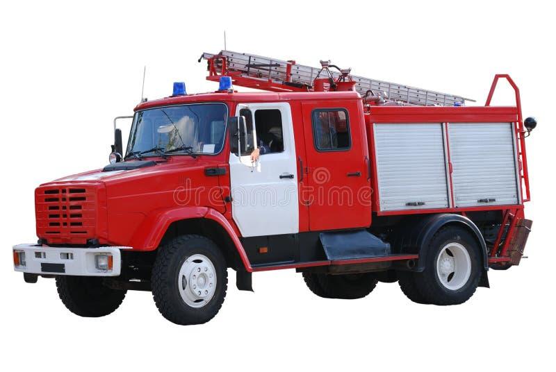 发动机起火查出的白色 免版税图库摄影